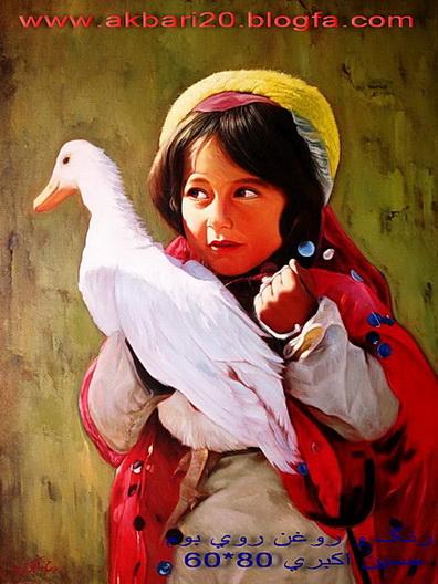 نقاشی رنگ و روغن روی بوم از حسین اکبری اورجینال